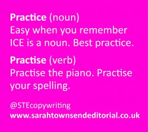 PRACTICE vs PRACTISE spelling tips to remember the difference