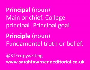 PRINCIPAL or PRINCIPLE: which is which? Top spelling tips to remember the difference.