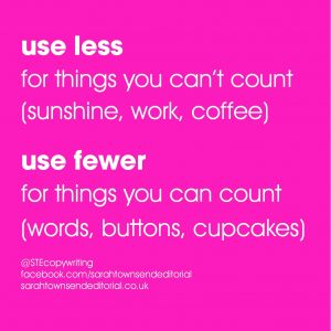 LESS vs FEWER: spelling tips to remember the difference