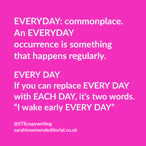 Everyday vs every day: tips to remember the difference