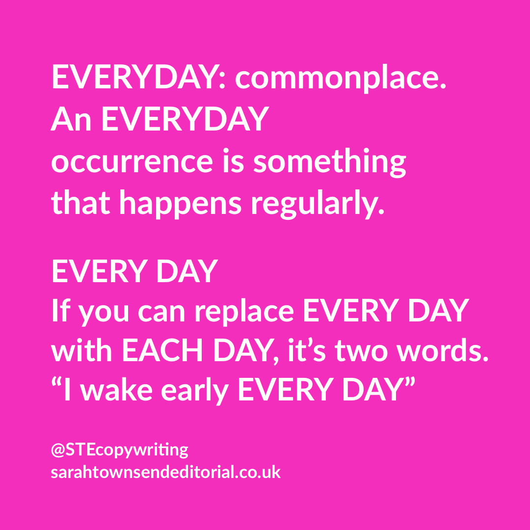 Everyday vs every day: tips to remember the difference ...